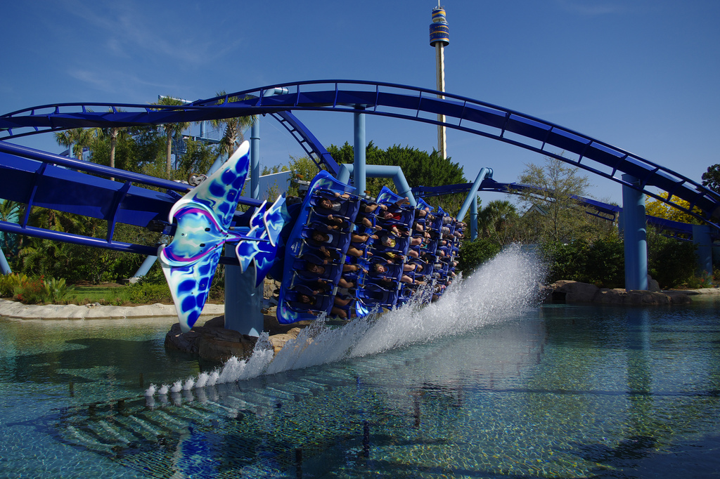Manta roller-coaster at Seaworld, Orlando
