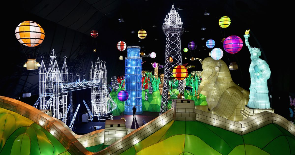 EMBARGOED-FOR-USE-until-0001am-A-visitor-takes-in-the-views-at-Illuminasia-light-show-in-Blackpool